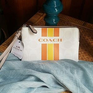 Coach wristlet makeup bag wallet
